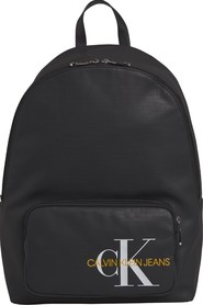 CALVIN KLEIN K50K505235 COATED COTTON CAMPUS BACKPACK Unisex BLACK