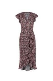 Rosy Long Midi Dress