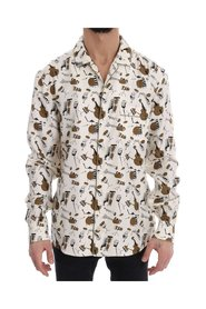 Silk JAZZ Motive Print Shirt