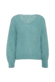 Milana Mohair Knit Turquoise Overdel