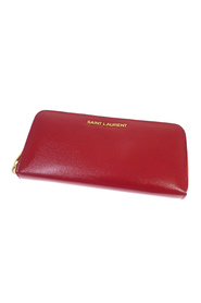 Leather Zip Around Long Wallet