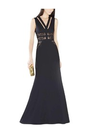Emyli Lace Blocked V-Neck Dress Gown XVR62D53-001