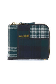 Rectangular wool tartan patchwork wallet