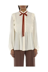 RUCHED SHIRT AND BOW shirt