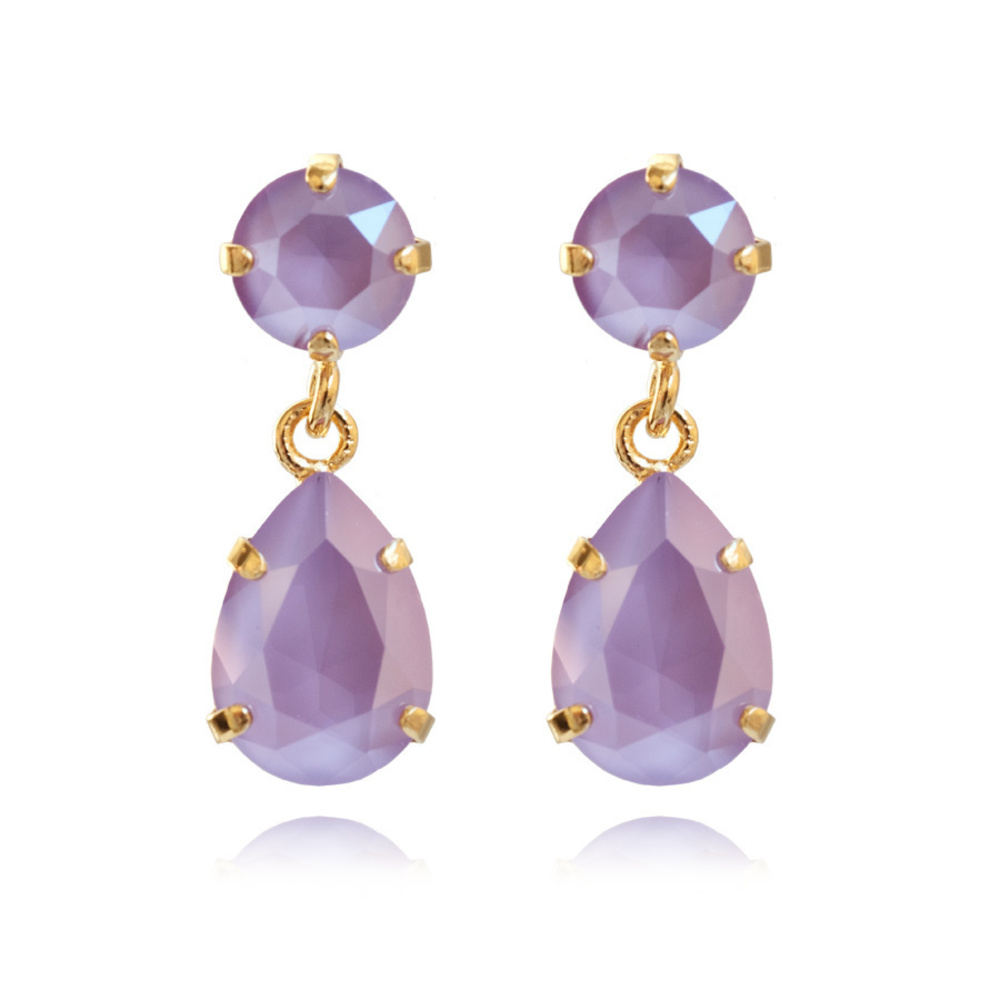 Caroline Svedbom Mini Drop Earrings Lilac