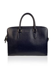 Leather Briefcase Satchel with Shoulder Strap
