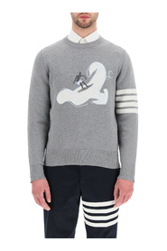 Surfer crew neck sweater
