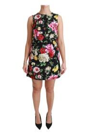 Floral Brocade Mini Shift klänning