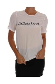 Silk ITALY IS LOVE Blouse T-shirt