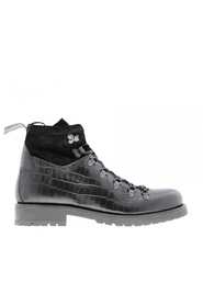 Piolete 1-f black croco boot
