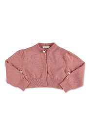 Cotton cardigan with pearl DG button