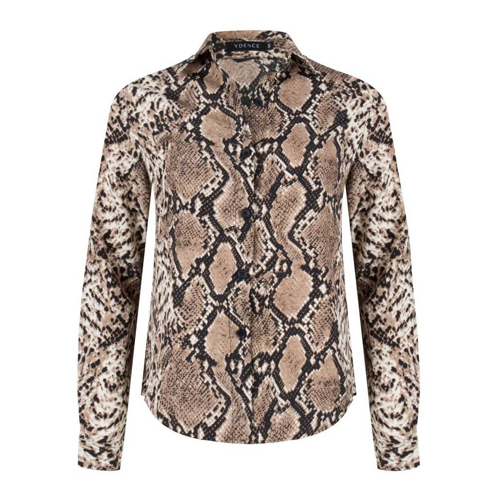 YDENCE sp18002 Lon blouse snake brown