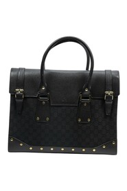 Pre-owned Double Buckle Briefcase Travel Bag