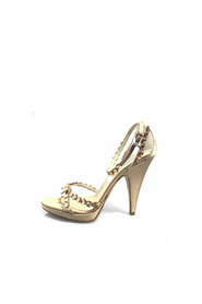 Beaded Satin Sandal