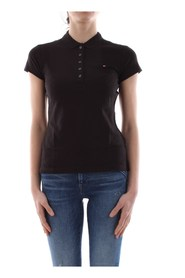 TOMMY HILFIGER 1M57636661 NEW CHIARA POLO Women BLACK