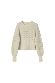 By Malene Birger Pointelle Sweater Soft White