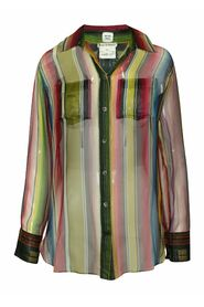 See-through Multicolor Silk Shirt