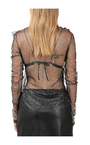 Philosophy di Lorenzo Serafini Black PARTY TOP Toppe - Sort