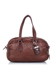 Bauletto Satchel Washed Leather Calf
