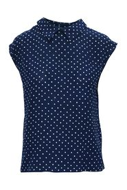 Printed Top with Pointed Collar