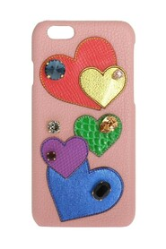 Leather Heart Crystal Phone Case