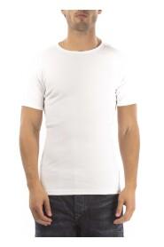 Petrol T-Shirt Ronde Hals Wit ( 2 pack)