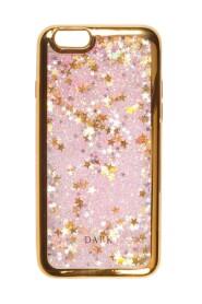 LIQUID GLITTER IPHONE COVER + STARS W/GOLD EDGE