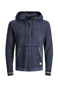 Jack & Jones Luke knit ziphood cardigan Sweaters Blauw