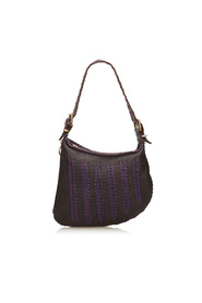 Leather Chevron Shoulder Bag