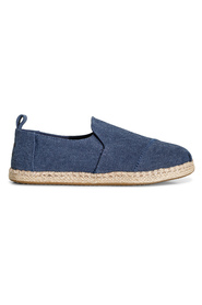 Blå Toms Navy Washed Canvas Espadrillos, BN 641