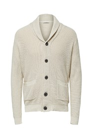 SLHRICHARD BUTTON SHAWL NECK CARDIGAN W