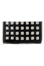 Falabella Crystal-Sewn Fold-Over Clutch Bag
