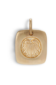 Salon Pendant, gold plated sterling silver