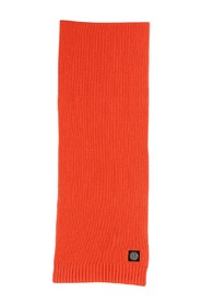 Stone Island Junior scarf made of wool with ribs and logo applied. Colour: Red Made in: Imported Composition: Wool 40%, Viscose 30%, Polyamide 20%, Cashmere 10%.