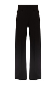 Wide pleat-front trousers