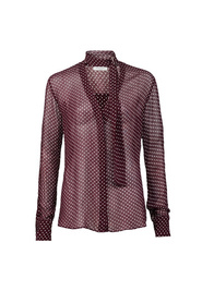 Mønster Hunkydory Elbert Blouse Dark Burgandy Bluse
