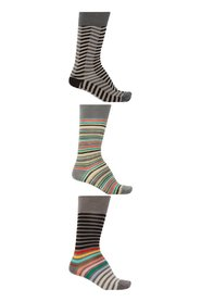 Striped socks 3-pack