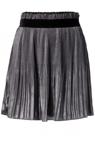 Shiny Plaited skirt with velvet