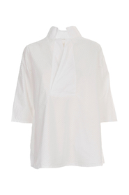 SHIRT REVERS NECK DRILLED TEXTILE