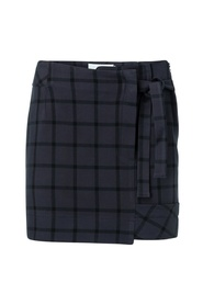 Mini skirt with checked print
