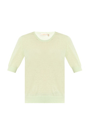 Logo-embroidered top