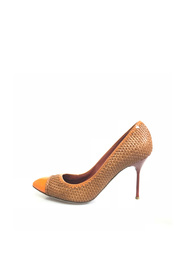 Woven Leather Pump