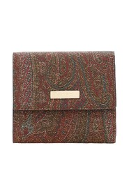 paisley trifold wallet