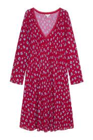 Printed flouned short dress
