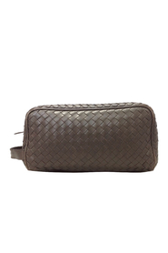 Pre-owned Intrecciato Leather Clutch Bag