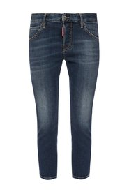 'Cool Girl Cropped Jean' stonewashed jeans