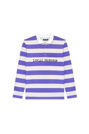 LH STRIPED LONGSLEEVE POLO