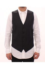 Striped Single Breasted Vest