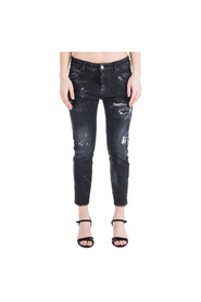 women's straight fit jeans  Cool girl cropped