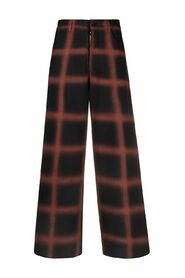 Virgin Trousers With Hand-Sprayed Check Design